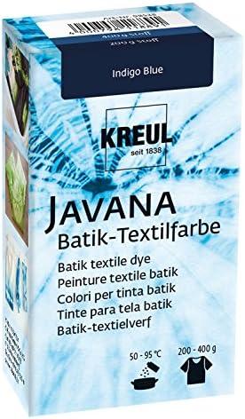 Kreul 98538 Javana Batik - Tinte textil (70 g, polvo de color azul índigo para teñir textiles con la técnica Shibori)