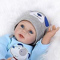 Decdeal Reborn Muñeca Bebé Realista de 55cm con Ropa Algodón y Ojos Abiertos de Color Azules