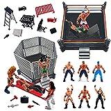 ToyVelt 32-Piece Wrestling Toys for Kids - Wrestler...