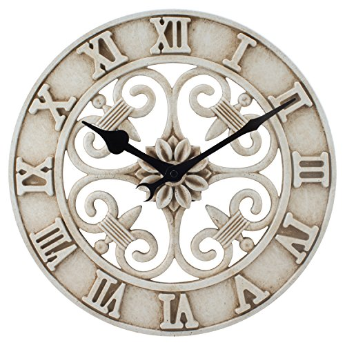 La Crosse Technology BBB86491 Cast Iron Indoor/Outdoor Wall Clock, 14'