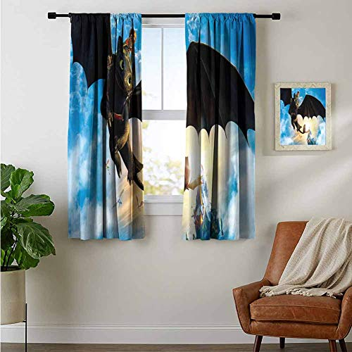 ZhiHdecor Room Darkening Curtains Hiccup How to Train Your Dragon Latest Draperies for Girls Room