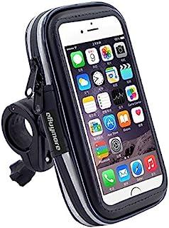 شاشة تعمل باللمس سوداء حامل الدراجة واقية من الماء الهاتف GPS حافظة حامل المقود للدراجات لآيفون 8 بلس / آيفون X / سامسونج ...