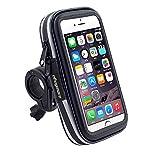 Black Touch Screen Bike Mount Waterproof Phone GPS Case Bike Bicycle Handlebar Holder Bag for iPhone 8 Plus / iPhone X / Samsung Galaxy Note 8 / S9 Plus / S8 Active / J7 Pro / HTC U11 / HTC U Ultra