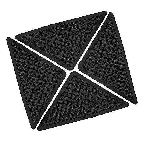 ZHENWOFC 8 stücke Dreieckige Anti-skid PU Teppich Greifer Waschbar Wiederverwendbare Rutschfeste Küche Bad Teppich Pad matte Hardware-Ersatzteile