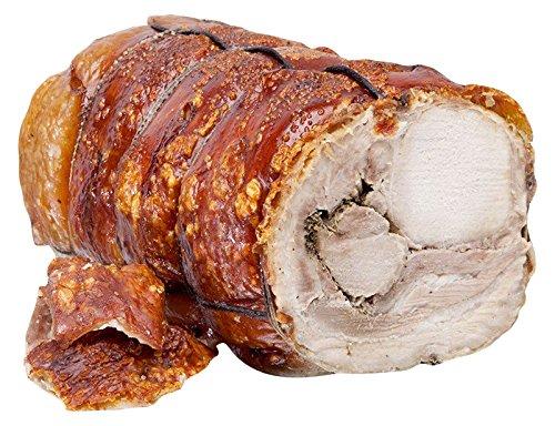 Tronco de Porchetta di Ariccia PGI 8.5 kg,carne central de cerdo horneado y picante, de nuestra producción