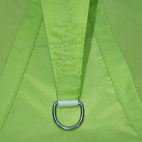 FANG Toldo Vela de Sombra Rectangular, Impermeable Vela de Sombra 95% Protección UV Transpirable con Kit De Acero Inoxidable para Patio, Exteriores, Jardín,Verde,5×7m