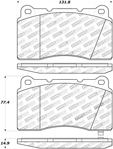 StopTech 308.10010 Street Brake Pads; Front, Rear with Shims