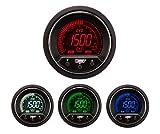 Exhaust Gas Temperature Gauge- Electrical Digital Green/white/red/blue Premium EVO Series 52mm (2 1/16)