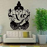 yaonuli Pegatinas de Pared Decoración del hogar Sala de Estar Elefante Indio Calcomanía de Pared Principal Vinilo Mural 42X58cm