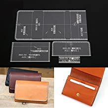NW Card Holder Acrylic Template Bag Leather Pattern Acrylic Leather Pattern Leather Templates for Card Bag