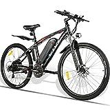 VIVI Elektrofahrrad Herren 27.5' E Bike Herren, 500W Motor E Bike, Abnehmbare 48V/10.4Ah Batterie E-Bike /21-Gang-Getriebe/Höchstgeschwindigkeit 40km/h/Kilometerstand Aufladen Bis zu 50km (Rot, 500W)