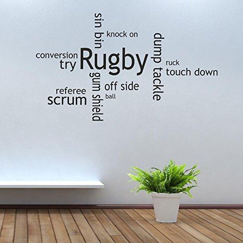 iClobber Collage Mundschutz, Rugby Scrum Cap Design Wand-Tattoo/Wand-Aufkleber, Vinyl, Zitat Bilderrahmen, braun, M