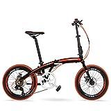 DJYD 7-Gang Faltrad, Erwachsene Unisex 20' Light Weight Falträder, Aluminium Rahmen Leicht bewegliche Faltbare Fahrrad, Weiß, 5 Spokes FDWFN (Color : Red, Size : Spokes)