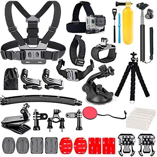 YHTSPORT, Kit di accessori per action camera, per GoPro Hero/9/8/Max/7/6/5/4/Black 2018/Session/Fusion/Silver/White/Insta360/DJI/SJCAM/APEMAN/AKASO e altre fotocamere, 28 in 1