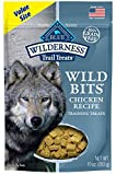 Blue Buffalo Wilderness Trail Treats Wild Bits High Protein Grain Free Soft-Moist Training Dog Treats, Chicken Recipe 10-oz Bag