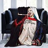 Judith Wordsworth Har-Ley Qu-inn 3D Printed Soft and Warm Throw Blanket Micro Fleece Blanket 60'x50'