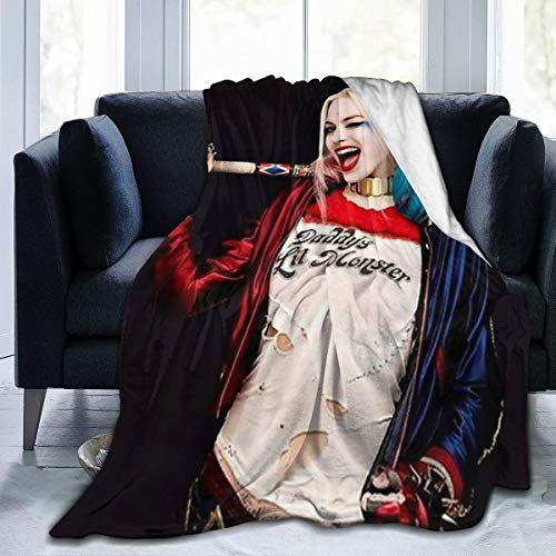 51RvE9MK3xL Harley Quinn Blankets