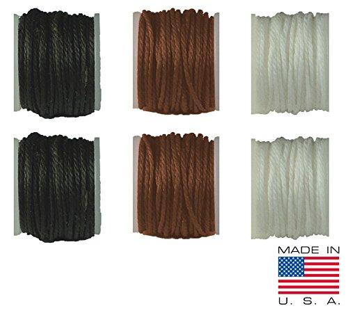 Leder, Canvas Nähen Ahle Nadel & Faden Mine, Ersatz für Ahle für alle Nähte Werkzeug–Made in USA Thread Replacements 3-Color / 6-Pack
