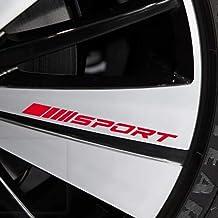 4PCS Sport Reflect Light Car Decal Car Sticker Wheels Rims Racing Car Sticker Emblem Logo Car Door Rims Wheel Hub Decal لوازم جانبی لوازم جانبی خودرو دکور