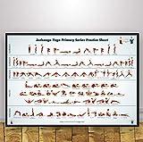 REDWPQ Wall Art Picture Poster Yoga Art Print en Lienzo Poster Home Decor 40 * 60 Cm sin Marco