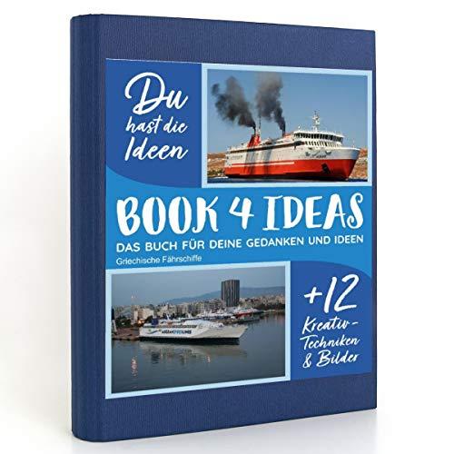 BOOK 4 IDEAS modern   Griechische Fährschiffe, Eintragbuch mit Bildern
