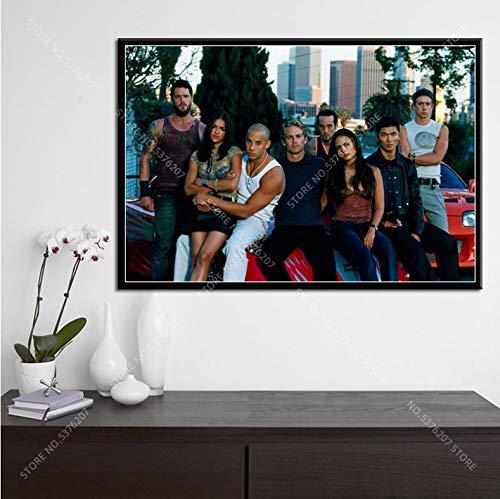 Art Decor Hot Fast & Furious Tutti I Personaggi Film Serie Classica Wall Art Canvas Pittura Poster 50 × 70Cm Senza Cornice
