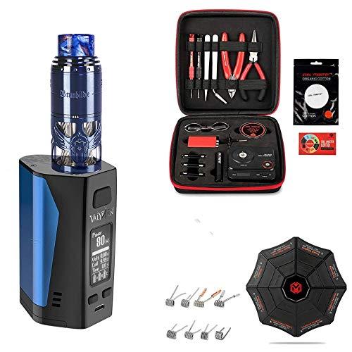 Brunhilde RTA Neue Farbe Blau | E-Zigarette Uwell Valyrian 2 | XXXL Selbstwickler Set | 300 W | hochwertige Verarbeitung | mit Coilmaster V3 Wickeltool - 00 mg - Nikotinfrei