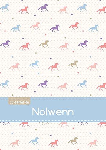 CAHIER NOLWENN BLANC,96P,A5 CHEVAUX