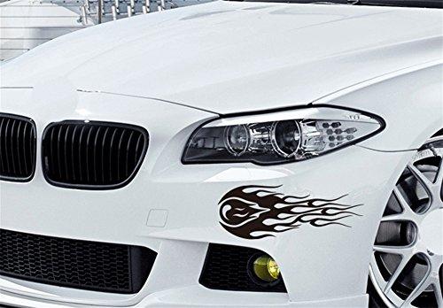 FGDJTYYJ Auto Dekoration Aufkleber Seitentür Aufkleber Haube wasserdicht Sonnenschutz Kratzer Auto Aufkleber, schwarz