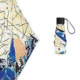 comechen Reiseregenschirm Winddicht Regenschirmwagen offen/geschlossen stabil wasserdicht,50% Sonnenschirm UV-Schutz ultraleichte Farbe3 90cm