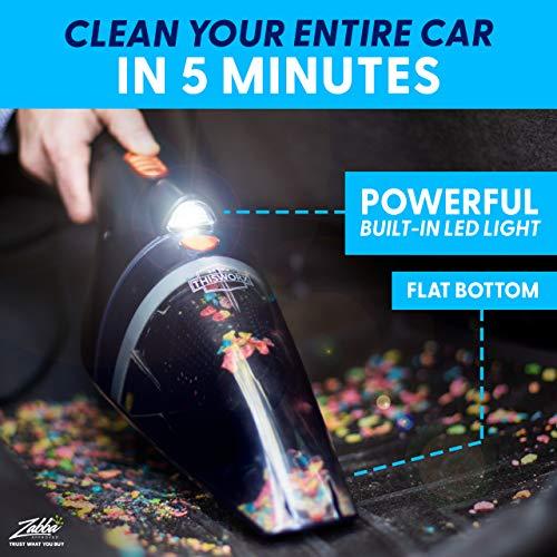 Portable Car Vacuum Cleaner: High Power Handheld Vacuum w/LED Light -110W 12v Best Car