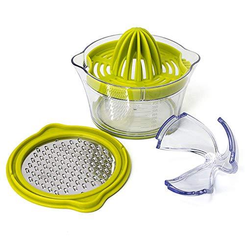 Handmatige Sapcentrifuge Manual Lemon Juicer met ingebouwde maatbeker en Rasp Lemon Orange citruspers gemakkelijk schoon te maken Gezond Modern Geschenk (Color : Green, Size : 13.5X13.5X9CM)