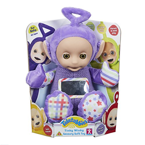 Teletubbies- Tinky Winky - Peluche sensorial, Multicolor (Character Options 6797)