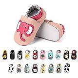 Primeros Pasos Bebe Niña Niños Zapatos Zapatillas de Estar por Casa Pantuflas Calzado Botitas y Patucos Infantiles Piel Sintético Casual Antideslizante-2 PKDX 12-18 Meses