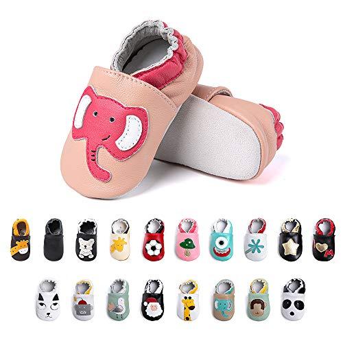Primeros Pasos Bebe Niña Niños Zapatos Zapatillas de Estar por Casa Pantuflas Calzado Botitas y Patucos Infantiles Piel Sintético Casual Antideslizante-2 PKDX 0-6 Meses