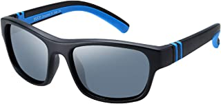 Kids Sports Style Polarized Sunglasses Rubber Flexible Frame For Boys And Girls