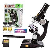 iMiMi Microscopio 500X Microscopio Set Educativo Niños Microscopio Kit Ciencias Laboratorio Set de Juguete Educativo Regalo para Niños Junior