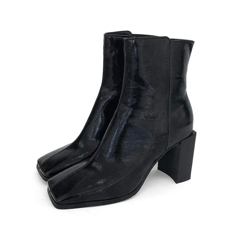 可決拘束するのど[QIFENGDIANZ]レディースブーツ ショートブーツ ブーティー ポインテッドゥ 6cmヒール 大きいサイズ 歩きやすい 疲れない 秋冬靴 防寒 防滑 厚底 美脚 かわいい カジュアル 通学 通勤 カラオケ デート 黒 白