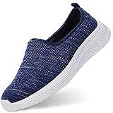 Gaatpot Mujer Zapatillas Casual Mocasines Mesh Calzados para Correr en Asfalto Zapatillas de Estar por Casa Deportivo de Exterior Zapatos Blau 40.5/41EU=41CN