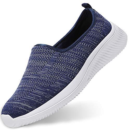 Gaatpot Mujer Zapatillas Casual Mocasines Mesh Calzados para Correr en Asfalto Zapatillas de Estar por Casa Deportivo de Exterior Zapatos Blau 41.5/42EU=42CN