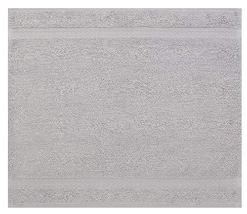 Betz Serviette débarbouillette Lavette Taille 30 x 30 cm 100% Coton Premium Couleur Gris argenté