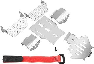 Drfeify 6 Pcs Chasis de Acero Inoxidable Protección de la Armadura Antideslizante Placa para Traxxas TRX-4 RC Car