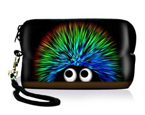 Luxburg® Design Universal cameratas hoes sleeve case voor compacte digitale camera, motief: Egel