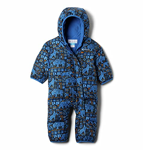 Columbia Kids' Baby Boys Snuggly Bunny Bunting, Bright Indigo Fiercesome Print, 12-18 Months