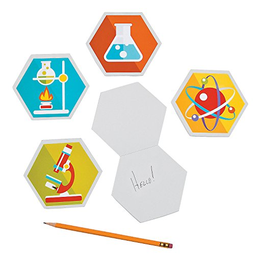 Fun Express - Science Party Laboratory Notepads for Birthday - Stationery - Notepads - Misc Notepads - Birthday - 12 Pieces