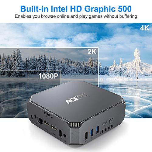 "Mini PC,ACEPC AK2 Windows 10 Pro 6GB RAM+120GB ROM Intel Celeron J3455 Micro Desktop Computer, Support 2.5""SSD/Dual HDMI /1000Mbps LAN/Dual Band Wifi/Bluetooth 4.2 / 4K HD / USB3.0"