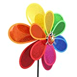 Wanfor Pailletten Insekt Windmühle Whirligig Wind Spinner Hausgarten Garten Dekor Kinder Spielzeug