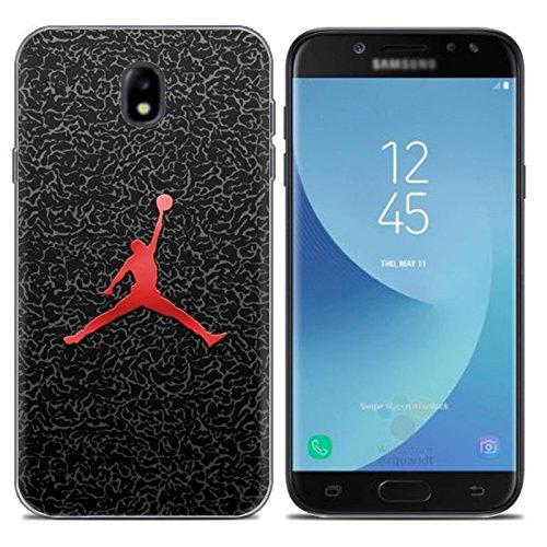 Aksuo for Samsung Galaxy J5 2017 Hülle Silikon, TPU Silikonhülle Handyhülle Kratzfest Durchsichtige Stylisch Muster Design Robust Leicht Passgenau Case - Basketball Spielen