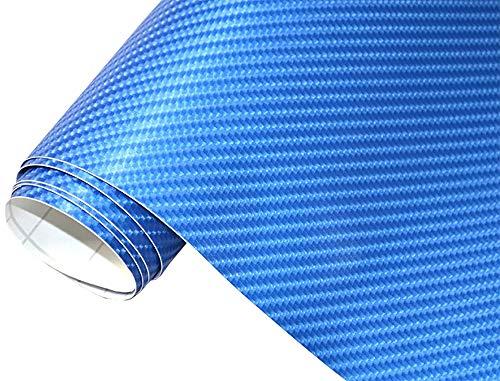 Neoxxim 24,22€/m2 Premium Auto Folie - 4D Carbon Folie BLAU METALLIC 4D 30 x 150 cm - blasenfrei mit Luftkanälen ca. 0,15mm dick Folierung folieren bekleben