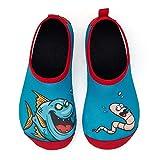 IceUnicorn Badeschuhe Kinder Schwimmschuhe Jungen Mädchen Strandschuhe Baby Aquaschuhe Barfußschuhe Kleinkind Wasserschuhe(Fischwanze, 30/31 EU)
